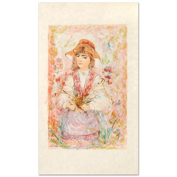 """""""Heidi"""" Limited Edition Lithograph by Edna Hibel (1917-2014), Numbered and Hand Signed with Certific"""