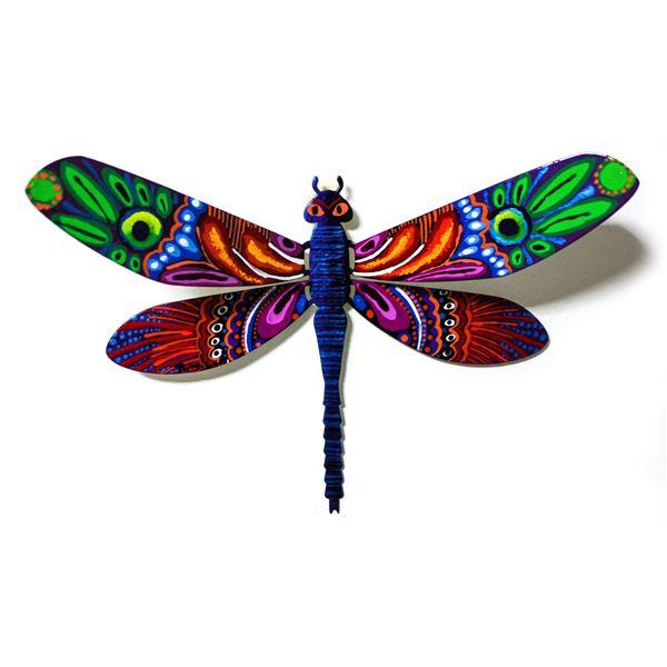 "Patricia Govezensky- Original Painting on Cutout Steel ""Dragonfly XCII"""