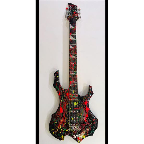 """E.M. Zax- One-of-a-Kind hand painted Guitar """"Guitar"""""""