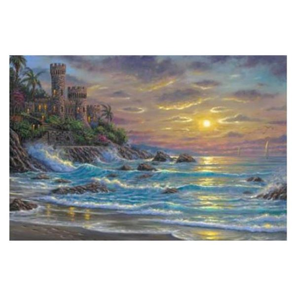 """Robert Finale, """"Costa Brava"""" Hand Signed, Artist Embellished AP Limited Edition on Canvas with COA."""