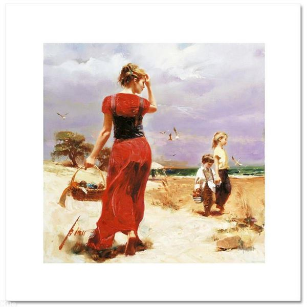 """Pino (1931-2010), """"Seaside Gathering"""" Limited Edition on Canvas, Numbered and Hand Signed with Certi"""