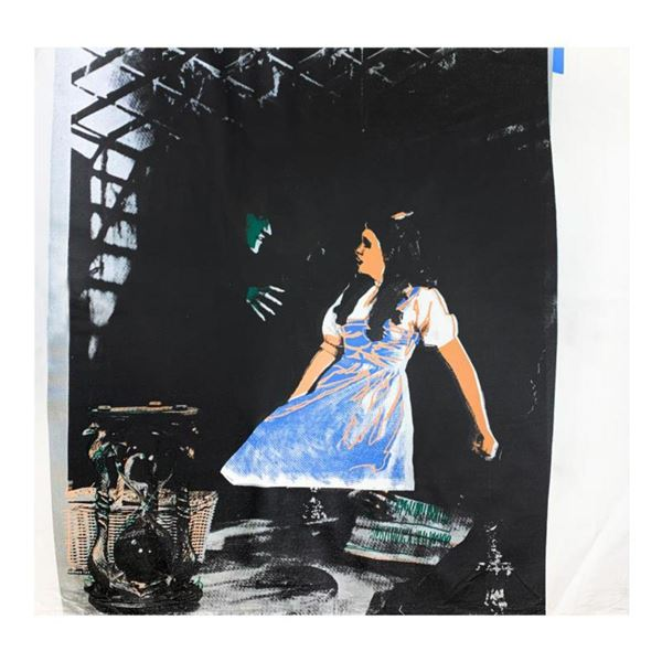 """Steve Kaufman (1960-2010) """"Dorothy and the Wicked Witch"""" Hand Signed and Numbered Limited Edition Ha"""