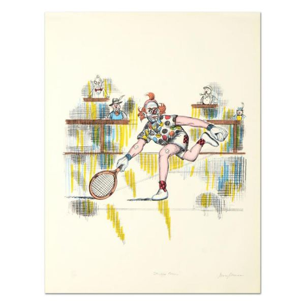"""George Crionas (1925-2004), """"Tennis Bum"""" Hand Embellished Limited Edition Lithograph, Numbered and H"""