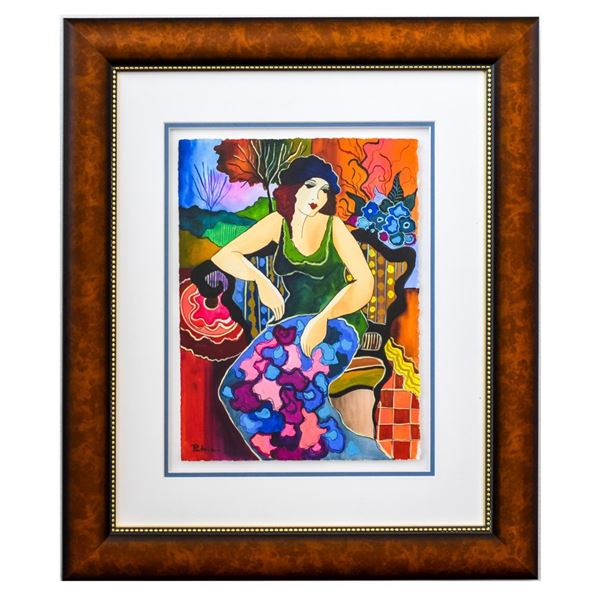 "Patricia Govezensky- Original Watercolor ""Louise"""
