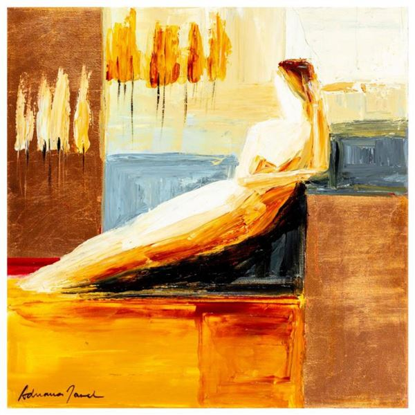 """Adriana Naveh, """"Eternity"""" Original Acrylic Painting on Canvas, Hand Signed with Letter of Authentici"""