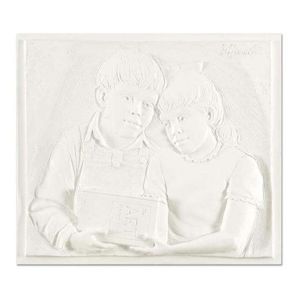 """Bill Mack, """"Sharing"""" Limited Edition Monotype Relief Sculpture from an AP Edition, Cast Signed with"""