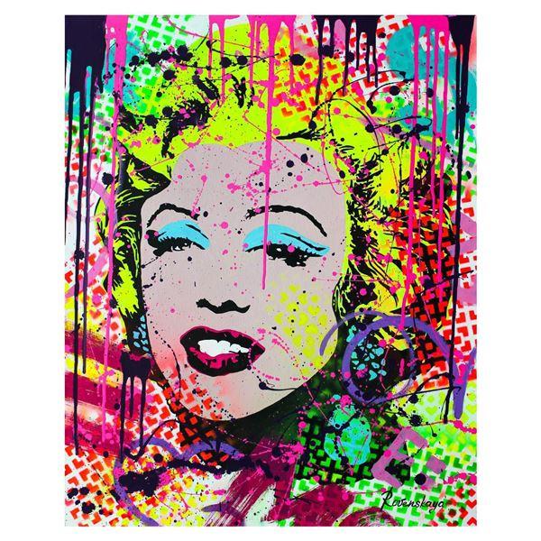 "Nastya Rovenskaya- Original Oil on Canvas ""Happiness by Monroe"""