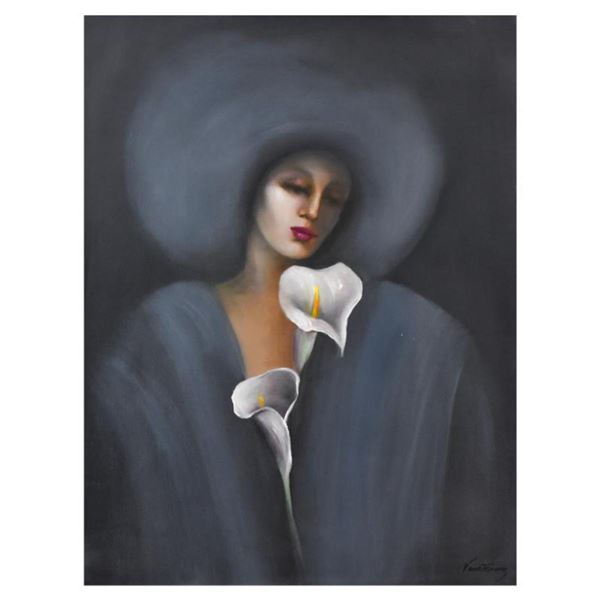 """Victoria Montesinos, Original Oil Painting on Canvas (30"""" x 40""""), Hand Signed with Letter of Authent"""