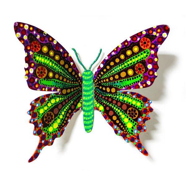 "Patricia Govezensky- Original Painting on Cutout Steel ""Butterfly LXXXVII"""