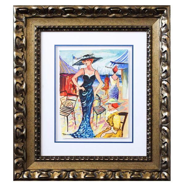 "Patricia Govezensky- Original Watercolor ""Alana"""