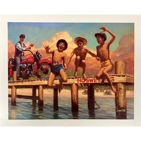 "David uhl- Original Giclee on Canvas ""Rebel Yell"""