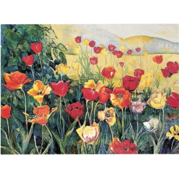 """Perla Fox- Original Serigraph """"Tulips"""""""