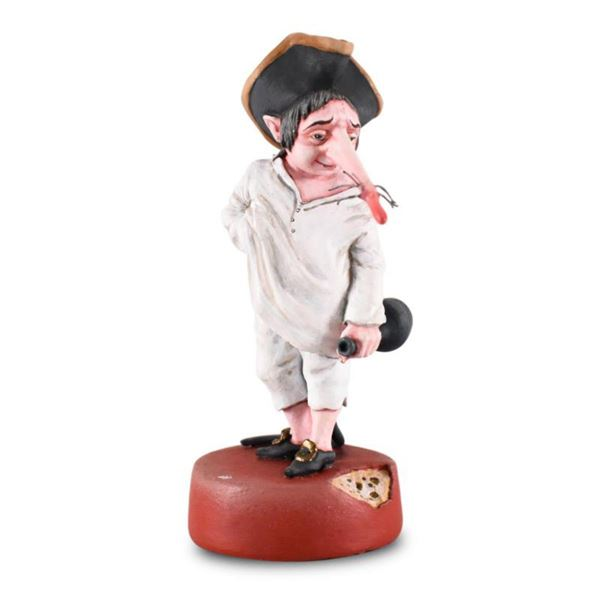 """Mihail Chemiakin, """"Krysonok-Drunk"""" Limited Edition Hand Casted, Hand Painted Figurine from """"The Nutc"""
