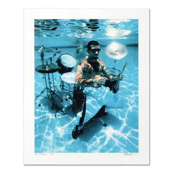 """Rob Shanahan, """"John Dolmayan"""" Hand Signed Limited Edition Giclee with Certificate of Authenticity."""