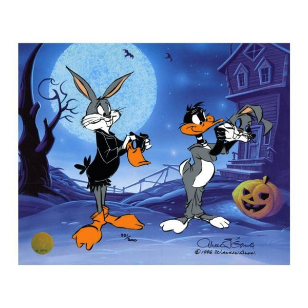 """Chuck Jones """"Trick Or Treat"""" Hand Signed, Hand Painted Limited Edition Sericel."""