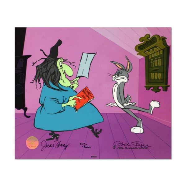 """Chuck Jones """"Rabbit Recipes"""" Hand Signed, Hand Painted Limited Edition Sericel."""
