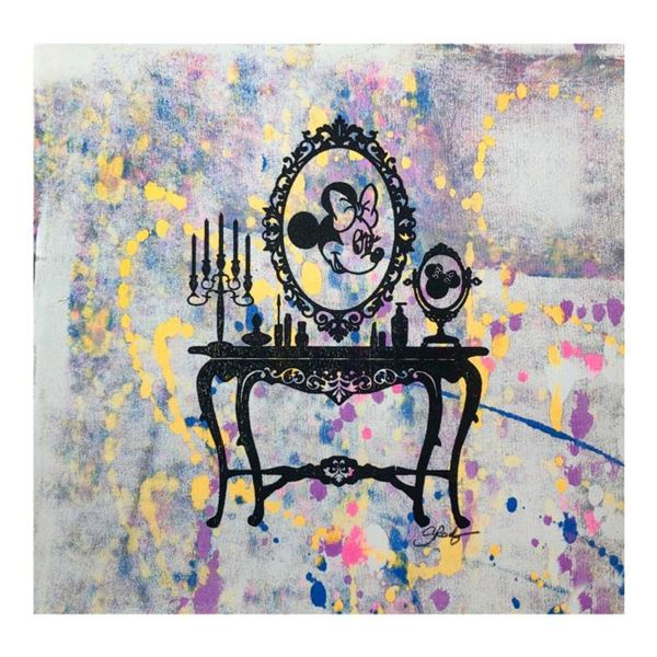 """Gail Rodgers, """"Mirror Mirror"""" Hand Signed Original Hand Pulled Silkscreen Mixed Media on Canvas with"""