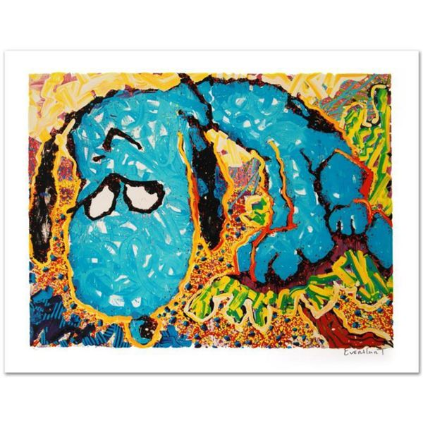 """""""Hollywood Hound Dog"""" Limited Edition Hand Pulled Original Lithograph by Renowned Charles Schulz Pro"""