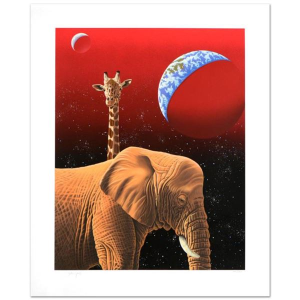 """""""Our Home Too I, Elephants"""" Limited Edition Serigraph by William Schimmel, Numbered and Hand Signed"""