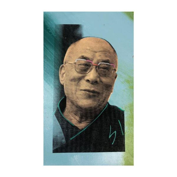 """Steve Kaufman (1960-2010) """"Dali Lama"""" Hand Signed and Numbered Limited Edition Hand Pulled silkscree"""