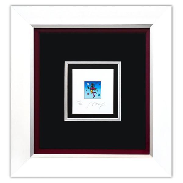 "Peter Max- Original Lithograph ""Star Catcher on Blue (Mini)"""
