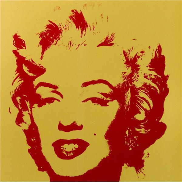 """Andy Warhol- Silk Screen """"Golden Marilyn 11.40"""""""