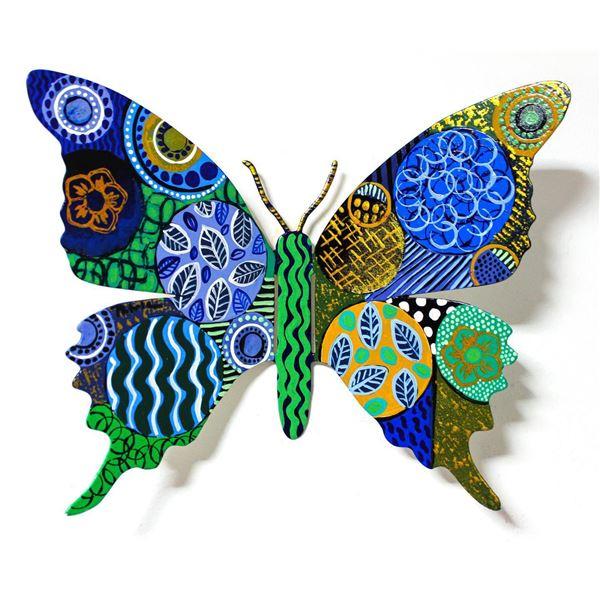 "Patricia Govezensky- Original Painting on Cutout Steel ""Butterfly CCXC"""