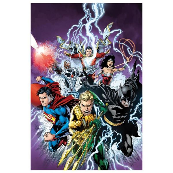 """DC Comics, """"Justice League #15"""" Numbered Limited Edition Giclee on Canvas by Ivan Reis with COA."""
