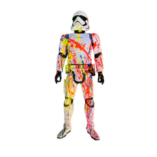 """E.M. Zax- Hand painted original one of a kind sculpture  """"Storm Trooper """""""