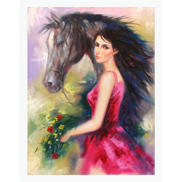 "Taras Sidan- Original Oil on Canvas ""Lady of the West"""