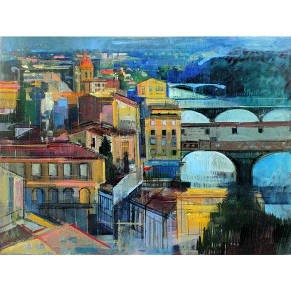 """Alex Zwarenstein """"Florence at Sundown"""" Giclee on Canvas"""