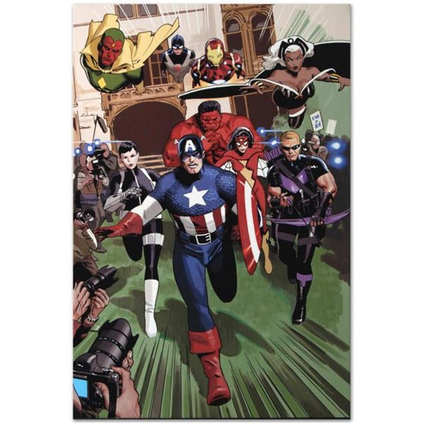 """Marvel Comics """"Magneto: Not a Hero #2"""" Numbered Limited Edition Giclee on Canvas by Daniel Acuna wit"""