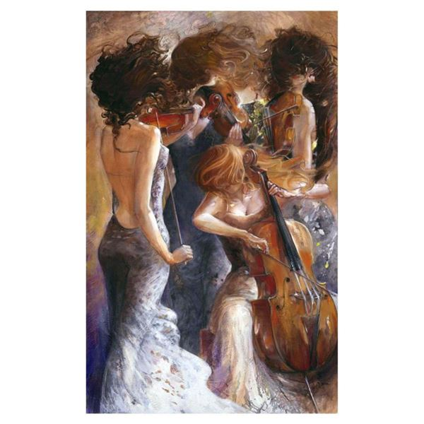 "Lena Sotskova, ""Fantasy"" Hand Signed, Artist Embellished Limited Edition Giclee on Canvas with COA."