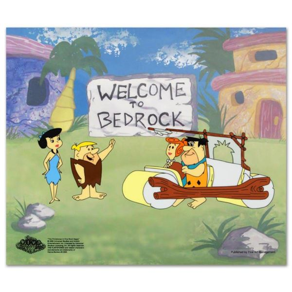 """""""Fred's New Car"""" Limited Edition Sericel from the Popular Animated Series The Flintstones with Certi"""