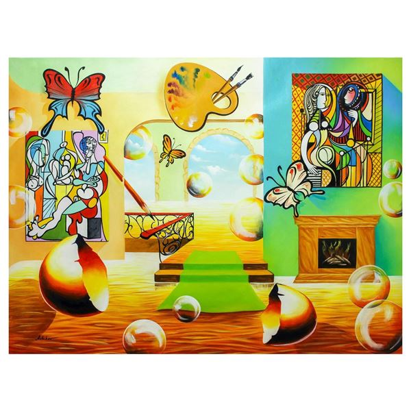 "Alexander Astahov- Original Oil on Canvas ""Chagall Room"""