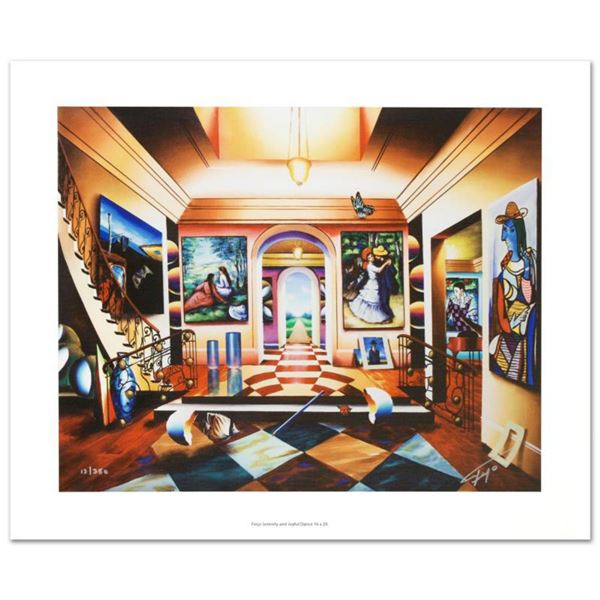 """""""Serenity and Joyful Dance"""" Limited Edition Giclee on Canvas by Ferjo, Numbered and Hand Signed by t"""