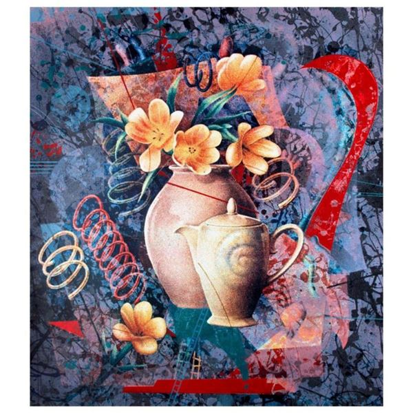 """Yankel Ginzburg, """"Tea In The Afternoon"""" Hand Signed Limited Edition Serigraph with Letter of Authent"""