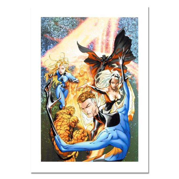 """Marvel Comics, """"Fantastic Four #548"""" Numbered Limited Edition Canvas by Michael Turner (1971-2008) w"""