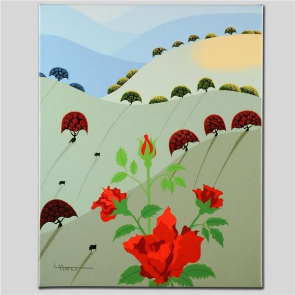 """""""Pushing Up Roses"""" Limited Edition Giclee on Canvas by Larissa Holt, Numbered and Signed. This piece"""