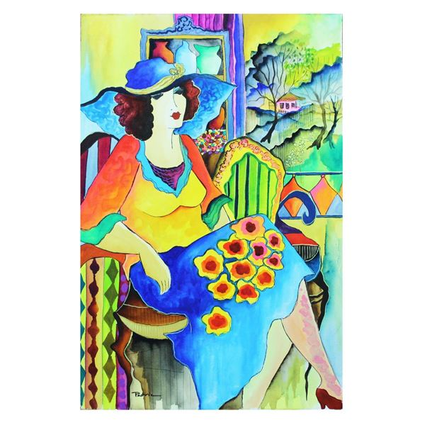 "Patricia Govezensky- Original Watercolor ""Emotional Thought"""