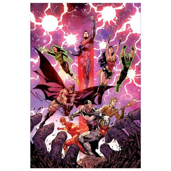"DC Comics, ""Justice League #3"" Numbered Limited Edition Giclee on Canvas by Tony S Daniel with COA."