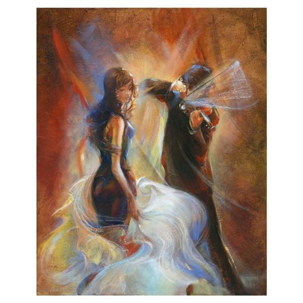 "Lena Sotskova, ""Seduction"" Hand Signed, Artist Embellished Limited Edition Giclee on Canvas with COA"