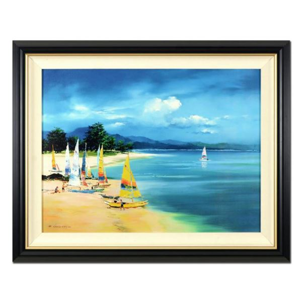 "H. Leung, ""Summer Sail"" Framed Limited Edition on Canvas Board, Numbered 215/750 and Hand Signed wit"