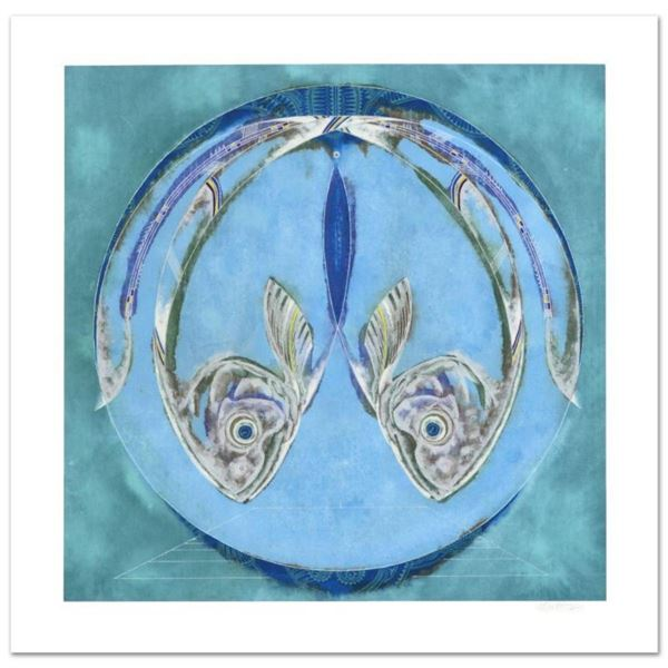 """Lu Hong, """"Pisces"""" Limited Edition Giclee, Numbered and Hand Signed with COA."""