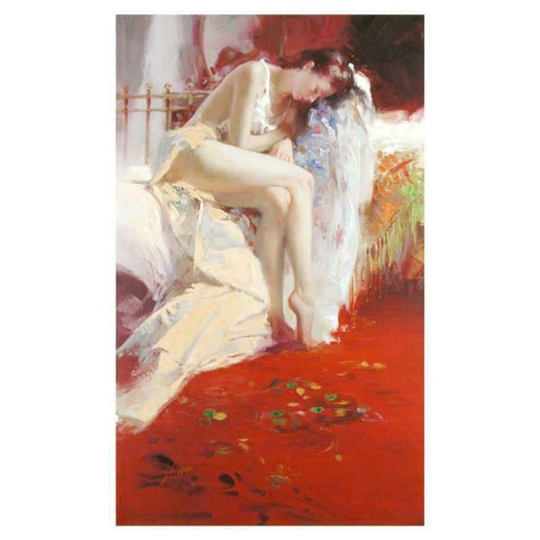 """Pino (1939-2010), """"Fanciful Dream"""" Artist Embellished Limited Edition on Canvas (28"""" x 46""""), AP Numb"""