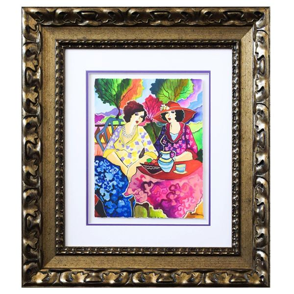 "Patricia Govezensky- Original Watercolor ""Ruth & Sarah"""