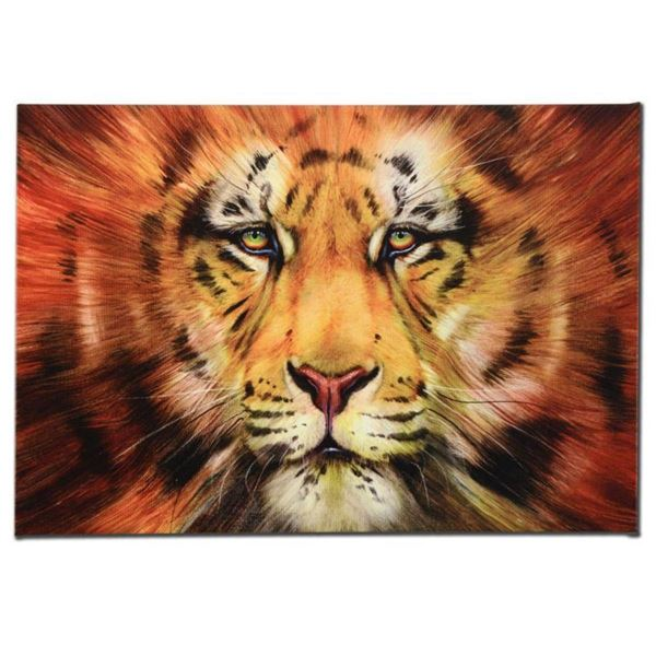 """""""Red Liger"""" Limited Edition Giclee on Canvas by Martin Katon, Numbered and Hand Signed. This piece c"""
