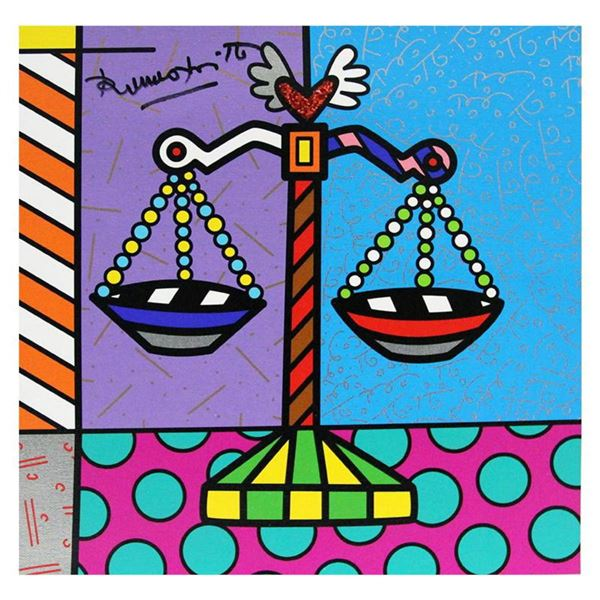"""Britto, """"Libra"""" Hand Signed Limited Edition Giclee on Canvas; Authenticated."""