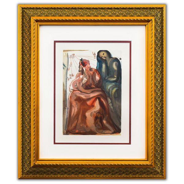 "Salvador Dali- Original Color Woodcut on B.F.K. Rives Paper ""Purgatory 31"""