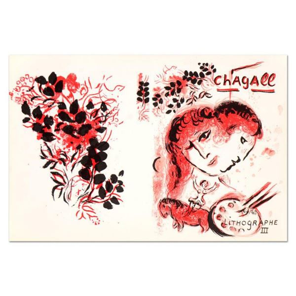 """Marc Chagall (1887-1985), """"Lithographe III"""" Original Lithograph, Plate Signed with Letter of Authent"""